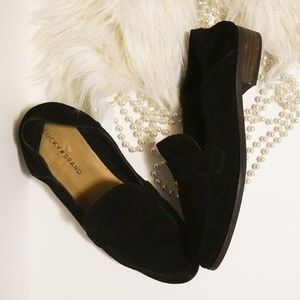 NWT Lucky Brand Chennie Loafer Black Suede Leather